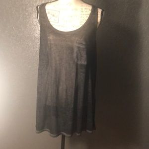 Torrid Sz0 Oversized Pocketed Gray Sheer Tank